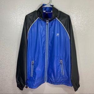 Men's FILA Blue & Black Lightweight Zip Up Size L